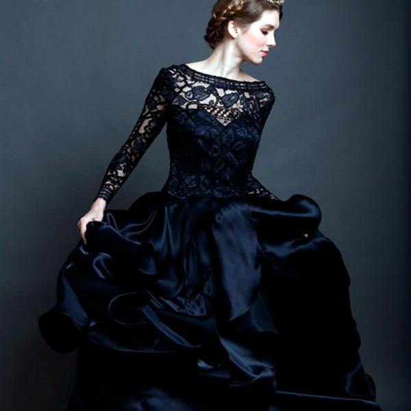 9da1b0fe558 Черное свадебное платье невесты и его преимущества