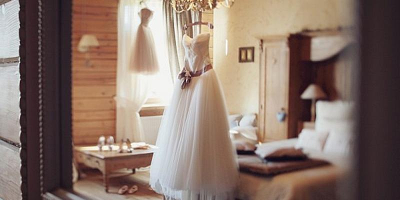 Глажка свадебное платье