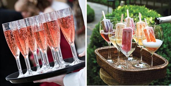 5 способов подать шампанское на свадьбе