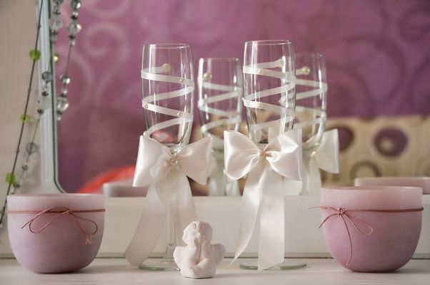 Бокалы на свадьбу жених и невеста своими руками пошаговое фото