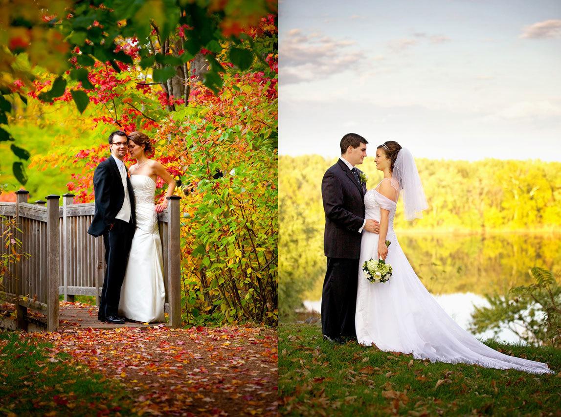 свадебные фото осенью фото