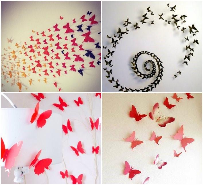 Как сделать бабочек на всю стену 732