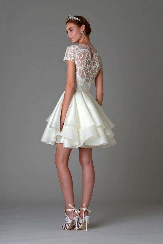 Осень короткое свадебное платье в