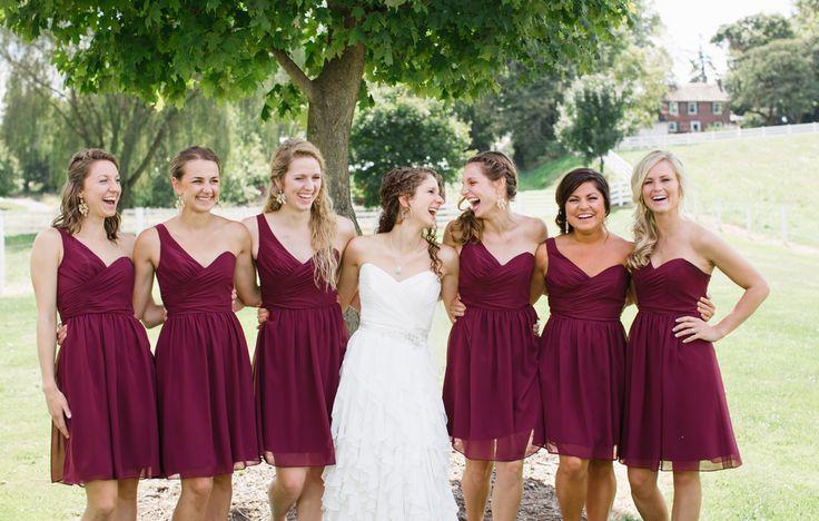 Платье подружки невесты на свадьбу короткое