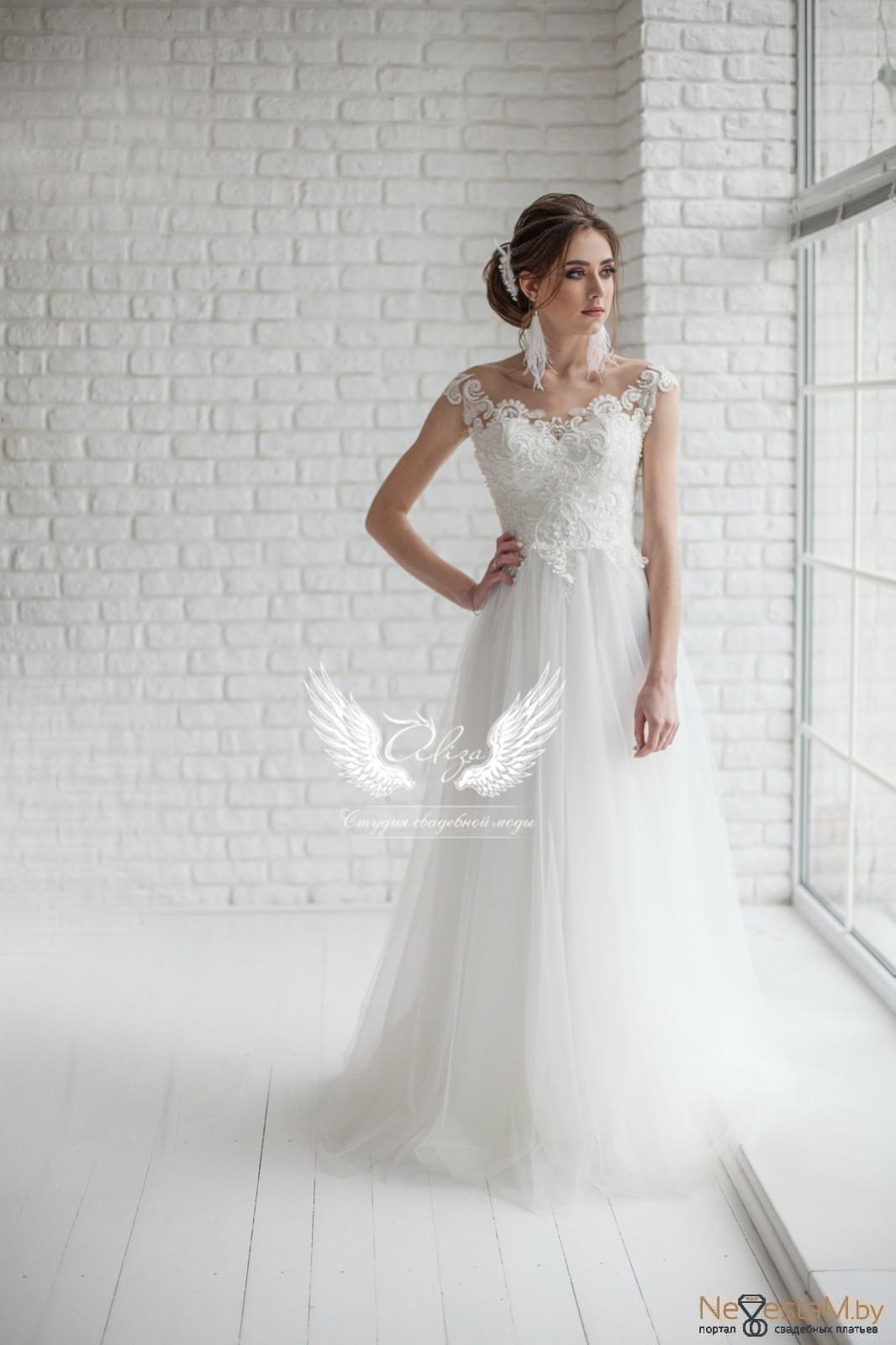4fc8afca80b Свадебное платье А-силуэт (принцесса) с открытой спиной 2018 №5215 ...