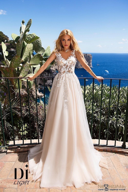 Свадебное платье Прямое с рукавами закрытое со шлейфом без корсета с ... 191cc24e769