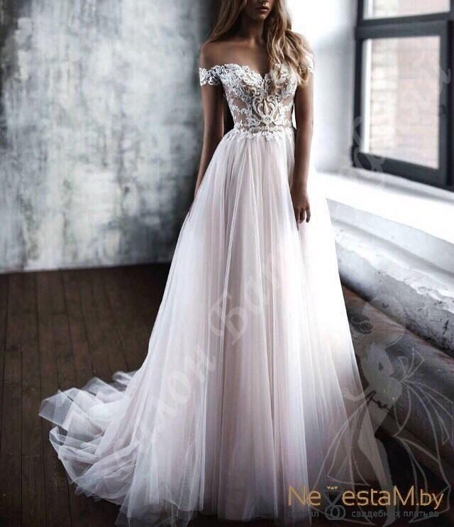 a5114bf8bf5 Свадебное платье А-силуэт (принцесса) подходит беременным длинное с ...