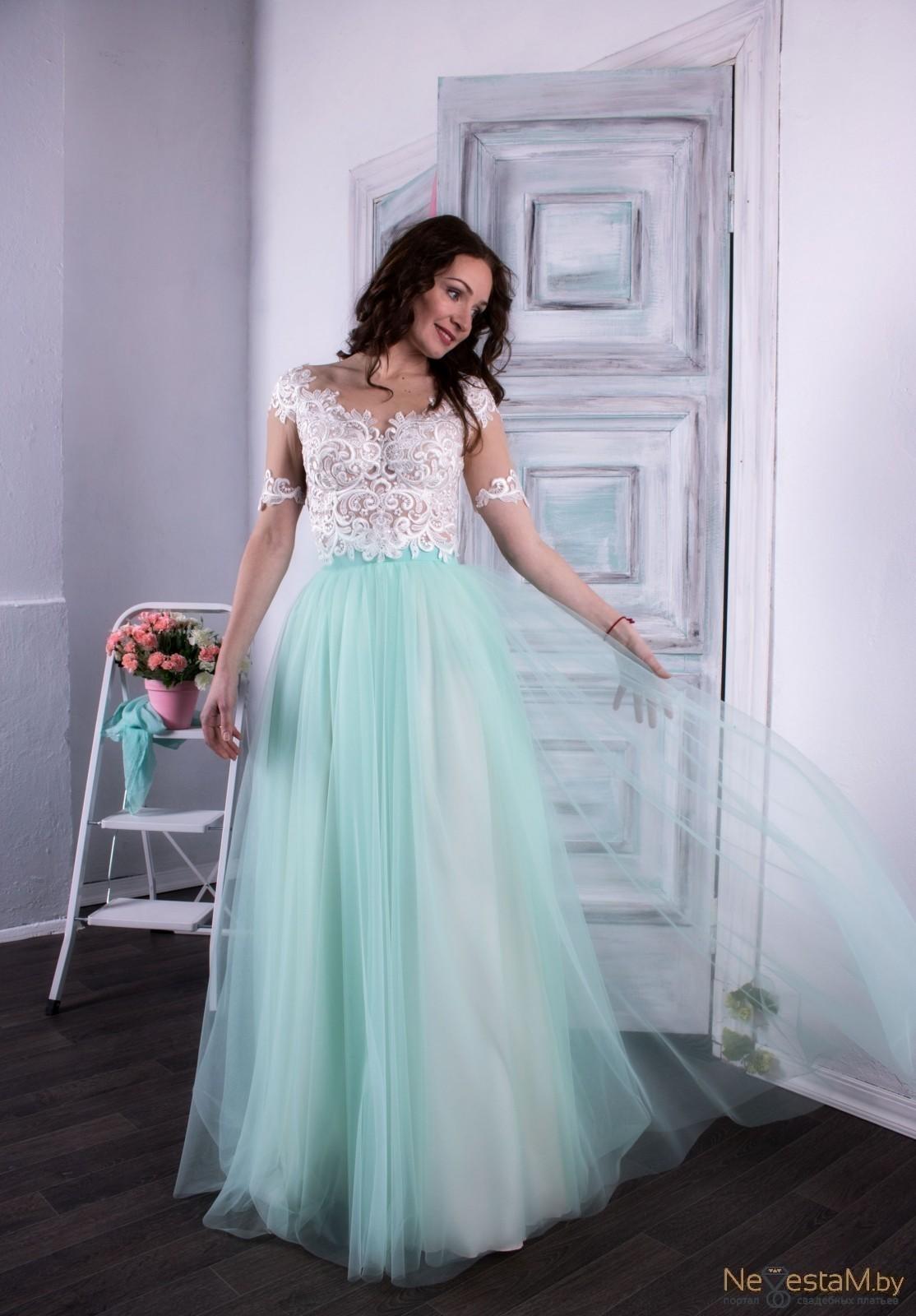 Свадебное платье А-силуэт (принцесса) длинное подходит беременным с ... 6af6e925125