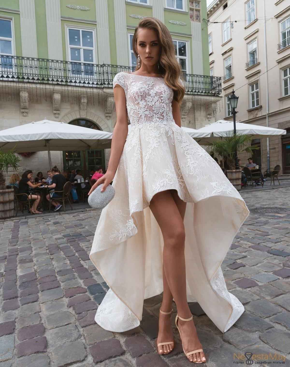 Свадебное платье А-силуэт (принцесса) закрытое длинное без корсета ... 5a78a299778